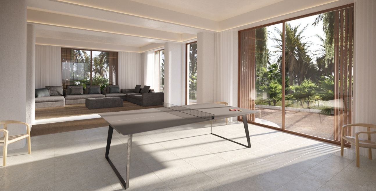 Game room rendering with ping pong table