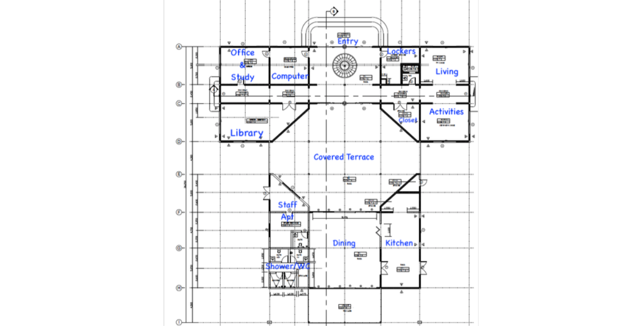 First floor plan for new building